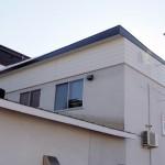 三角屋根→フラット屋根(無落雪)に変更